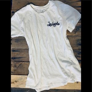 Basic white T-shirt with graphic Los Angeles.